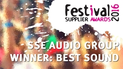 SSE Wins Best Sound at Festival Supplier Awards 2016