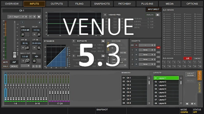 Avid VENUE 5 3 Software for S6L is here