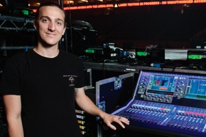 Jared Daly with the Allen and Heath dLive