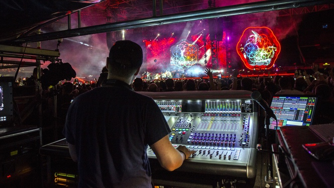 DiGiCo SD7 The Only Console for Coldplay