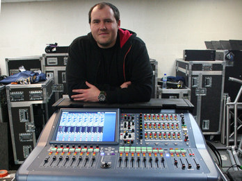 SSE Hire is using the new Midas PRO2 digital mixing system for the current European tour by British rapper, Example.