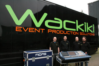 Wackiki, based in Northern Ireland, take delivery of the Pro2c compact digital mixing console.