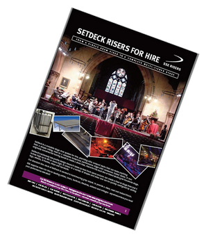 Download a pdf document that explains the SetDeck Riser system, including a rate card.