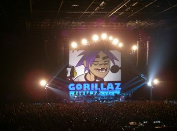 SSE Risers provided SetDeck platforms for the Gorillaz recent UK Arena Tour