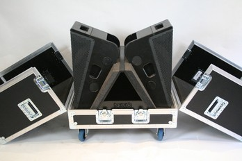 SSE Audio Group has designed and manufactured a flight case to house a pair of  Nexo 45N-12 Line Monitors.